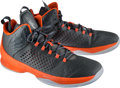 Basketball Collectibles:Others, 2015 Carmelo Anthony Game Worn New York Knicks Jordan BrandSneakers....