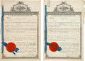 Golf Collectibles:Autographs, 1918 Tom Bendelow Golf Ball Patent Assignment Document to Wilson and One Other.. ...