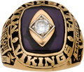 Football Collectibles:Others, 1969 Minnesota Vikings NFL Championship Ring Presented to Earsell Mackbee....