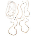 Estate Jewelry:Lots, Cultured Pearl, Gold, Silver Necklaces . ... (Total: 5 Items)