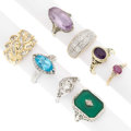 Estate Jewelry:Lots, Diamond, Multi-Stone, Gold Rings. ... (Total: 8 Items)