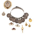 Estate Jewelry:Lots, Antique Diamond, Multi-Stone, Gold Coin, Ancient Coin, Gold, Silver Jewelry . ... (Total: 10 Items)