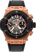 Timepieces:Wristwatch, Hublot Big Bang Unico King Rose Gold & Black CeramicWristwatch. ...