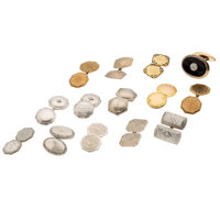 Diamond, Enamel, Black Onyx, Gold Single Cuff Links
