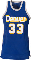 Basketball Collectibles:Uniforms, 1980's David Thompson Game Worn Denver Nuggets Jersey. ...