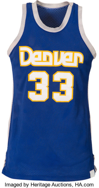 100% authentic 6b623 134a9 1980's David Thompson Game Worn Denver Nuggets Jersey ...