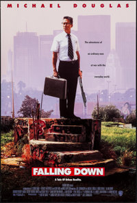 """Falling Down & Other Lot (Warner Brothers, 1993). One Sheets (2) (Approx. 27"""" X 40"""") DS. Thriller. ... (To..."""