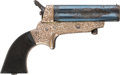Handguns:Derringer, Palm, Factory Engraved Tipping & Lawden Model 2 Pepperbox....