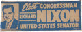 Political:Textile Display (1896-present), Richard Nixon: 1950 Senatorial Cloth Banner....