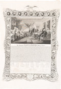 Political:Small Paper (pre-1896), Declaration of Independence: Decorative Engraving....