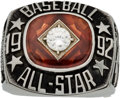 Baseball Collectibles:Others, 1992 Major League Baseball All-Star Ring....