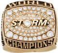 Football Collectibles:Others, 2003 Tampa Bay Storm Arena Football Championship Ring Presented to Wide Receiver Keita Crespina.. ...