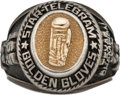 Boxing Collectibles:Memorabilia, 2001 Texas Golden Gloves Middleweight Championship Ring....