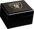 Football Cards:Boxes & Cases, 2002 Oakland Raiders AFC Championship Ring Box (No Ring).