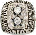 Football Collectibles:Others, 1977 Roger Staubach Dallas Cowboys Super Bowl XII Salesman's Sample Ring (With Real Diamonds)....