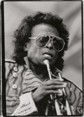 Photographs:Gelatin Silver, Herb Snitzer (American, b. 1932). Monk and Rouce at the U.N.;Dizzy Gillespie, Hunter College rehearsal, NYC; Miles Davis ...(Total: 3 Items)