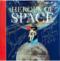 Explorers:Space Exploration, Pop-Up Book: Heroes of Space Signed by Aldrin, Cernan,Lovell, and Mattingly, Originally from Buzz Aldrin's Person...