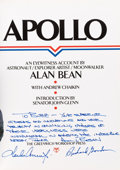 Explorers:Space Exploration, Alan Bean Signed Book to Buzz Aldrin: Apollo, also Signed byCharles Conrad and Richard Gordon, Originally from Al...
