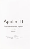 Autographs:Celebrities, Buzz Aldrin Signed Book: Apollo 11 The NASA Mission Reports,Volume One, Originally from His Personal Collection....