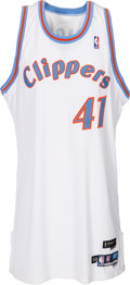 Basketball Collectibles:Uniforms, 2003-04 Glen Rice Game Worn Los Angeles Clippers ThrowbackJersey....