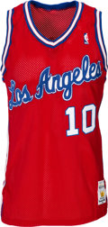 Basketball Collectibles:Uniforms, 1988-89 Norm Nixon Game Worn Los Angeles Clippers Jersey. ...