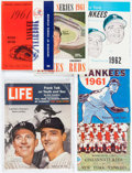 Baseball Collectibles:Publications, 1961-62 New York Yankees World Series Programs, Yearbooks &Life Magazine Lot of 6. ...