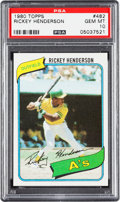 Baseball Cards:Singles (1970-Now), 1980 Topps Rickey Henderson Rookie #482 PSA Gem Mint 10....