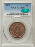 Large Cents: , 1850 1C MS64 Brown PCGS. CAC. PCGS Population: (137/76). NGC Census: (138/124). CDN: $360 Whsle. Bid for problem-free NGC/P...