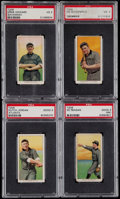 Baseball Cards:Lots, 1909-11 T206 Southern Leaguers Piedmont/Old Mill PSA GradedCollection (4)....