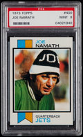 Football Cards:Singles (1970-Now), 1973 Topps Joe Namath #400 PSA Mint 9....