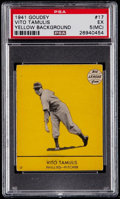 Baseball Cards:Singles (1940-1949), 1941 Goudey Vito Tamulis (Yellow Background) #17 PSA EX 5 (MC)....