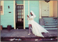 Photographs:Digital, Herman Leonard (American, 1923-2010). Bride With White Hose, NewOrleans, 1998. Digital pigment. 7 x 9-3/4 inches (17.8 ...