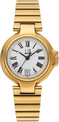 Timepieces:Wristwatch, Dunhill Lady's 18K Gold Bracelet Watch. ...