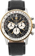 Timepieces:Wristwatch, Breitling Ref. 81600 Two Tone Navitimer Chronograph, circa 1980's. ...