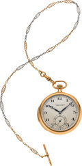 Timepieces:Pocket (post 1900), Vacheron & Constantin Very Fine Gold Minute Repeater With Chain, circa 1919. ...