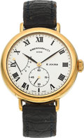 "Timepieces:Wristwatch, Eberhard & Co. 18k Gold ""8 Jours"" With Wind Indicator. ..."