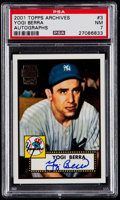 Baseball Cards:Singles (1970-Now), 2001 Topps Archives Yogi Berra Certified Autograph #3 PSA NM 7....