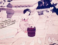 Animation Art:Poster, Snow White Signed Photographic Print (Walt Disney, c.1990s)....