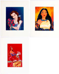 Animation Art:Poster, Eric Robison - Belle, Pocahontas, and Jessica Rabbit LithographPrints Group of 3 (Walt Disney, c. 1990s).... (Total: 3 Items)