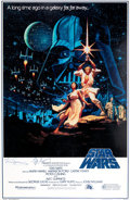 Memorabilia:Poster, Hildebrandt Brothers Star Wars 15th Anniversary Style BRe-Issue Autographed Poster (Lucasarts, 1992)....