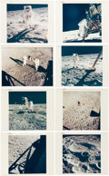 """Explorers:Space Exploration, Apollo 11: Collection of Twelve Original NASA """"Red Number"""" and Three """"Blue Number"""" Color Photos...."""