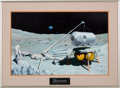 "Explorers:Space Exploration, Pat Rawlings Original Painting ""Lunar Base"" as Published inSaturday Evening Post and Aviation Week & Space..."