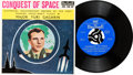 Explorers:Space Exploration, Major Yuri Gagarin Conquest of Space 45 RPM Extended PlayRecord (UK, Britone MK100, 1961)....