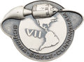 Explorers:Space Exploration, Apollo 7 Unflown Silver Robbins Medallion Restrike, Serial Number298. ...