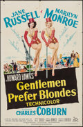 "Movie Posters:Musical, Gentlemen Prefer Blondes (20th Century Fox, 1953). One Sheet (27"" X41""). Musical.. ..."
