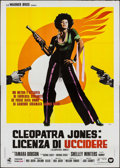 "Movie Posters:Blaxploitation, Cleopatra Jones (Warner Brothers, 1973). Italian 4 - Fogli (55"" X78""). Blaxploitation.. ..."