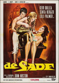 "Movie Posters:Exploitation, De Sade (American International, 1969). Italian 2 - Fogli (39.25"" X55.25""). Exploitation.. ..."