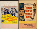 """The Bachelor's Daughters & Other Lot (United Artists, 1946). Window Cards (2) (Approx. 14"""" X 22""""). Comedy..."""