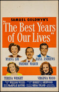 """Movie Posters:Drama, The Best Years of Our Lives (RKO, 1946). Window Card (14"""" X 22""""). Drama.. ..."""