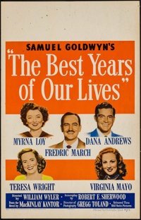 """The Best Years of Our Lives (RKO, 1946). Window Card (14"""" X 22""""). Drama"""